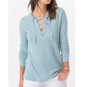 Z supply lace up waffle thermal M